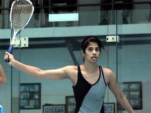 Joshana Chinappa stunned World No.1 Raneem El Welily of Egypt in the first round of the Qatar Classic Squash Championship.