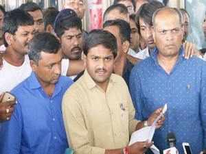Hardik is currently in police custody in connection with a sedition case here. Bharat Patel has moved the High Court to get the cases against his son quashed.