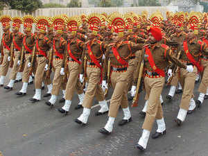 File image: An SSB battalion during full dress rehearsal for the Republic Day parade.