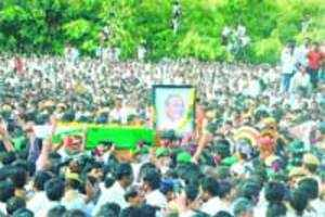 YSR's funeral procession (Hyderabad)