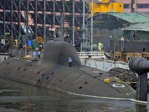 India's first indegenously developed nuclear submarine Arihant, which has completed the sea trials held so far, will undergo its maiden missile firing test soon.In pic: INS Arihant