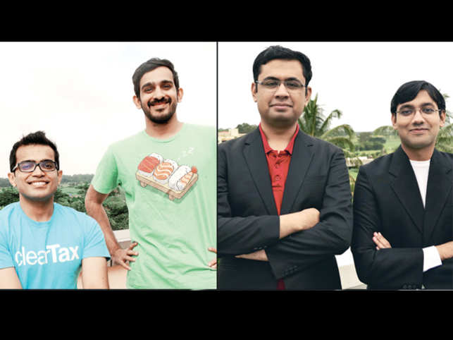 (L-R) Archit Gupta, Srivatsan Chari, Harshil Mathur and Shashank Kumar. (Image: N Narasimha Murthy)