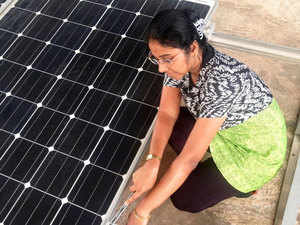 Revathi Vivek, Mangaluru, first successful woman in Dakshina Kannada to venture into the field of solar photovoltaic solutions and installations.