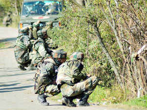 A senior army officer was today injured in an encounter with militants in Handwara area of north Kashmir's Kupwara district, officials said.