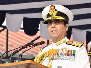 Indian Navy chief Admiral RK Dhowan today arrived here for a two-day conference being attended by 36 countries with a focus on maritime security cooperation.