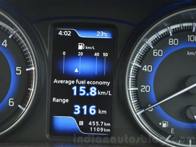 New instrument cluster - Maruti Baleno: First Drive Review