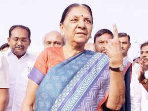 Gujarat Chief Minister Anandiben Patel.