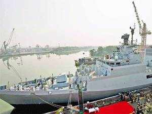The second Anti-Submarine Warfare Corvette, 'Kadmatt', built indigenously by GRSE shipyard, was today formally handed over to Indian Navy.
