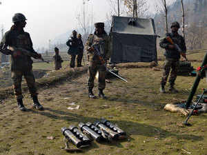 """""""Fresh firing has been reported from the Manigah forests of Kupwara this morning between security forces and the militants holed up there,"""" a police official said."""
