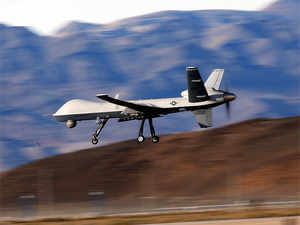 (Unrelated image) An MQ-9 Reaper remotely piloted aircraft flies by during a training mission November 17, 2015 at Creech Air Force Base in Indian Springs, Nevada.