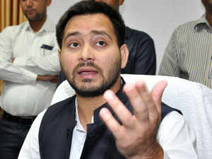 Since Chief Minister Nitish Kumar is member of state Legislative Council, hence Deputy Chief Minister Tejaswi Yadav was first to take oath.