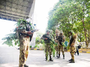 In a joint operation, Army and security forces launched a search operation at Gabbewaar in the district and unearthed a militant hideout, an Army official said.