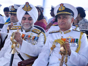 """In the last two years, there has been no hijacking of any ship. It is mainly due to the concerted efforts of all the navy including the Indian Navy there,"" Lanba (right) said."