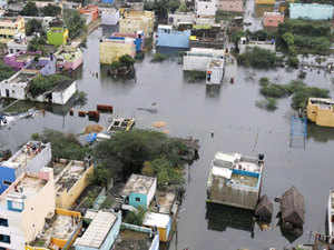 A residential area is seen surrounded by floodwaters in Chennai. Prominent names from southern film industry like Rana Daggubati, Dhanush, Allari Naresh and Siddharth have joined hands to help the people of flood-hit Tamil Nadu.