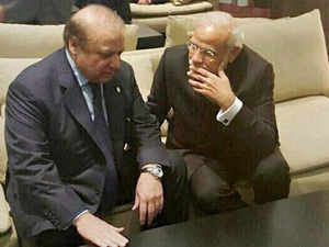 Prime Minister Narendra Modi and his Pakistani counterpart Nawaz Sharif talk in Paris on the sidelines of CoP 21 summit on climate change.