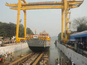 LCU L-55 is the fifth vessel in the series of eight Landing Craft Utility Ships being designed and built by GRSE for the Indian Navy.