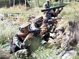 Army troops today busted a terror hideout and recovered arms and ammunition in Rajouri district of Jammu and Kashmir.