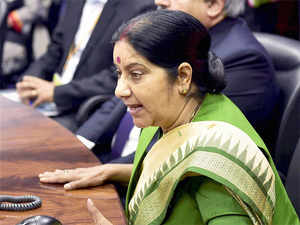 Sushma Swaraj asserted that there was a need for continued support of the international community to defend Afghanistan's unity and security.