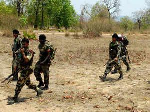 In pic: CRPF jawans patrolling at Dantewada in Chattisgarh