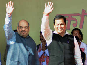 Changing its practice of not projecting a CM candidate, Union sports minister, Sarbananda Sonowal is likely to be projected as the CM candidate of BJP.