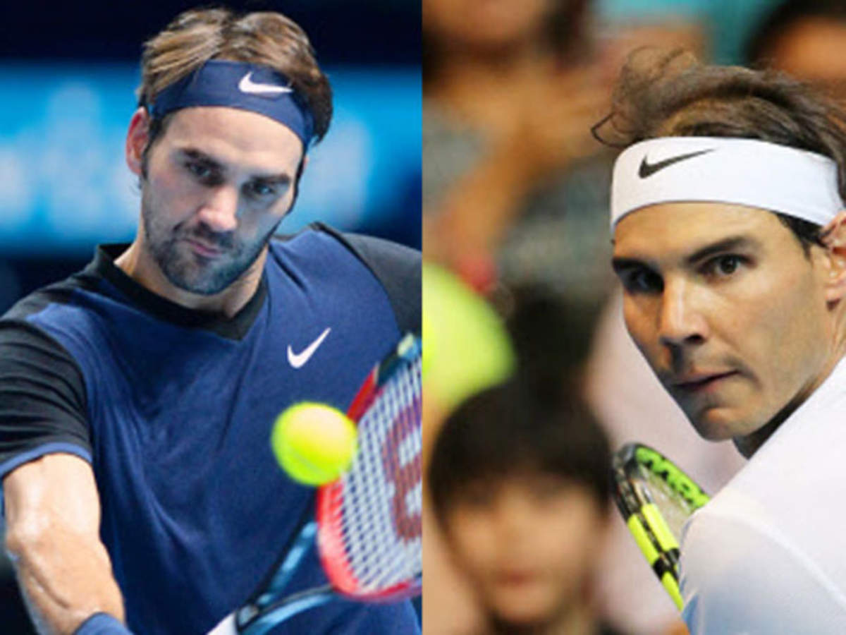 Roger Federer Takes On Rafael Nadal In Delhi Today The Economic Times