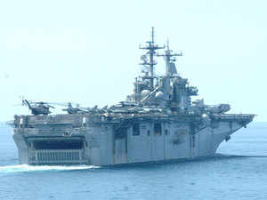 In pic: US warship Boxer LHD 4 during India-US joint Naval exercise in Goa