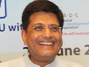 The Centre has set a target to distribute over six crore LED bulbs through State-run Energy Efficiency Services Ltd (EESL) in a span of one year, Power Minister Piyush Goyal said.