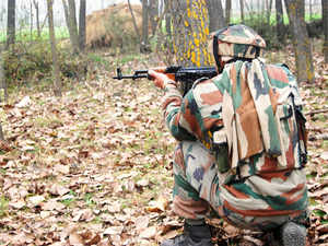 File photo: Indian Army near an encounter site in South Kashmir's Anantnag.