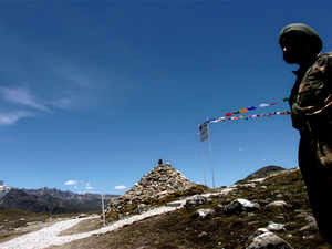 File photo: An Indian soldier a post at Indo-China border area in Bumla, Arunachal Pradesh.
