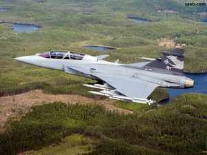 Besides Saab, US' Lockheed Martin and the France's Dassault Aviation have offered their jets in line with the government's push for 'Make in India'. In pic: Gripen fighter jet