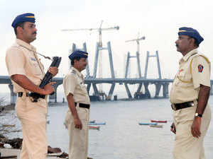 Out of the 204 sanctioned coastal police stations in 13 states and union territories, 176 are operational, Minister of State for Home Affairs Kiren Rijiju told the Lok Sabha. In pic: Police at bandra worli sea link