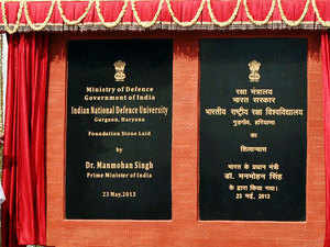 The Defence Ministry had acquired 205 acre and 15 marla of land in September 2012 in Gurgaon for setting up of world class INDU.