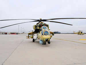 India has delivered three Mi 25 attack helicopters to Afghanistan, in what is seen as a shift in its strategy towards the strife-torn country. In pic: Mi 35