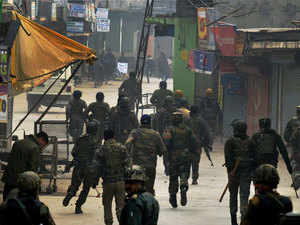 The security forces had launched an anti-militancy operation in the north Kashmir town last evening following information about presence of ultras there, the official said.