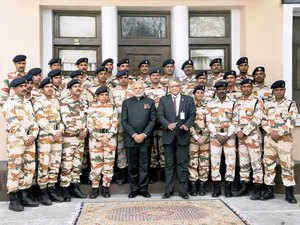 Prime Minister Narendra Modi today spent some time with ITBP troops deployed to secure the Indian High Commission here in Afghanistan as he lauded their courage and dedication by complimenting them with a 'keep it up' remark.