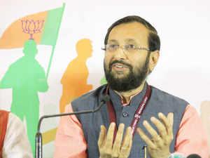 """Environment Minister Prakash Javdekar said, """"Kejriwal is enacting a drama on a daily basis as part of his political agenda."""""""