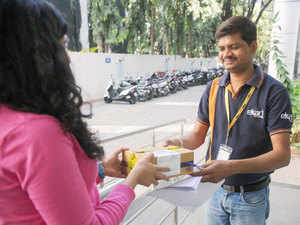 (Representative picture) As ecommerce companies try to meet the dearth of feet on the ground and wheels on the road, the pressure is building on the delivery boys.