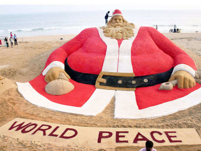 Odisha's eminent sand artist Sudarsan Pattnaik today claimed that the sand Santa Claus he created this Christmas has found a place in Limca Book of World Records.