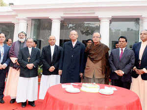 Finance Minister Arun Jaitley hosted tea for about 200 clergymen, including a cardinal and two archbishops, at his residence on Tuesday.