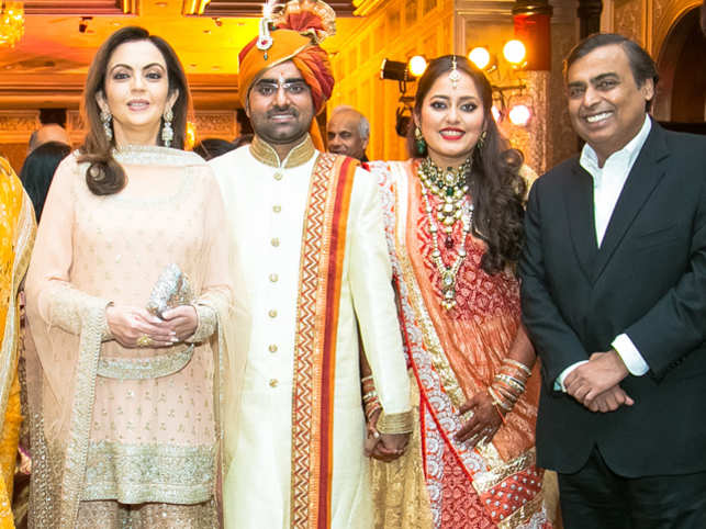 The reception was held in a south Mumbai luxury hotel, and nearly 2,000 guests were invited.