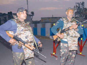 """I strongly condemn the terrorist attacks on India's Pathankot military base as well as on the Indian Consulate in Mazar-e-Sharif, Afghanistan,"" Congressman Brad Sherman said. In pic: Indian air force personnel stand guard at the base in Pathankot."