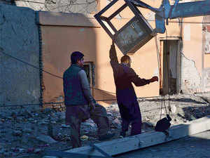 An explosion took place 400 metres from the Indian consulate on Tuesday. The building, which was attacked in 2007 and 2013 as well, remained untouched by the explosion.