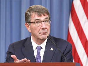 In pic: US Defense Secretary Ash Carter speaks during a joint news conference following a meeting with his British counterpart Michael Fallon at the Pentagon in Washington December 11, 2015.
