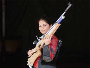 Apurvi Chandela broke the world record on way to winning gold in the women's 10 metre air rifle event at the Swedish Cup Grand Prix.