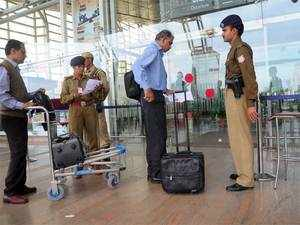 Security agencies have stepped up vigil at sensitive airports entailing passengers to go through a second round of frisking and detailed scanning of their footwear and handbags.