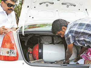 Manufacturers and distributors of CNG kits in the national capital region say they have recorded a 25-30% increase in demand in the past 10 days.