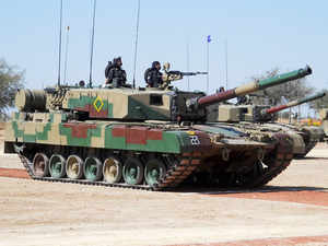 File image of the Arjun Mark II tank during its development trials.