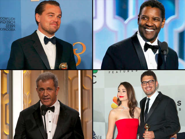 Dressed in a Giorgio Armani suit, Leo impressed with his clean and classic fashion sense. Here's a list of stars who chose the fashion house.