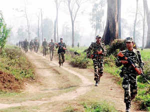 In pic: (Unrelated) Security personnel during an operation against National Democratic Front of Bodoland - Songbijit faction (NDFB-S).
