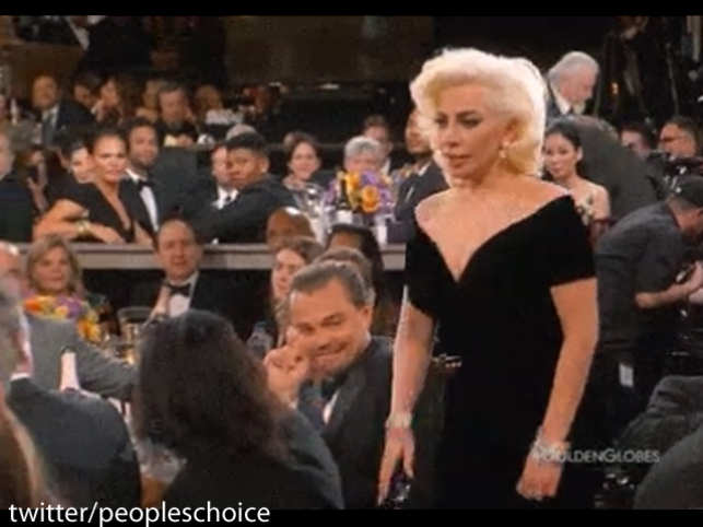 The actor's surprised eye-roll after Lady Gaga grazed his arm on her way to accept her trophy went viral with speculation that the two had a tiff.